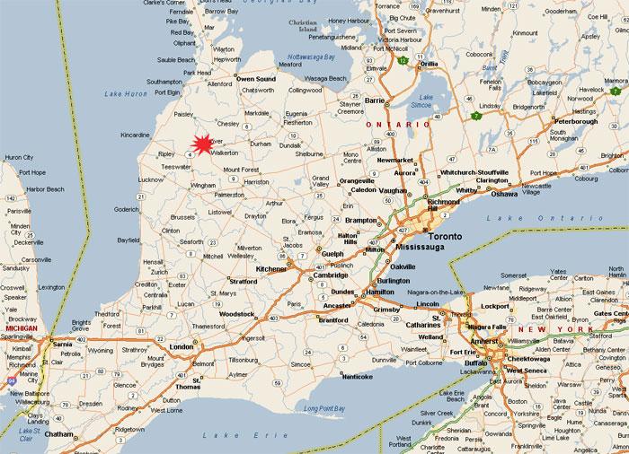 Directions to Walkerton Ontario